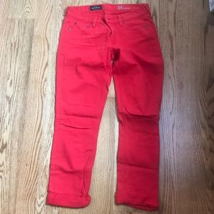 JCrew matchstick cherry red jeans size 28